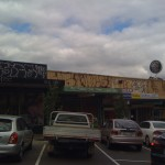 graffiti removal from corrugated iron